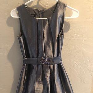 Silver/gray girls sz 14 dress
